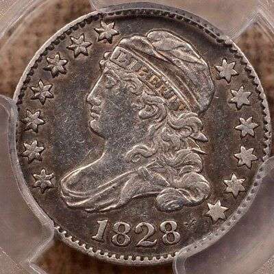 1828 JR-2 Large Date Bust dime, PCGS XF40, Very Tough!   DavidKahnRareCoins