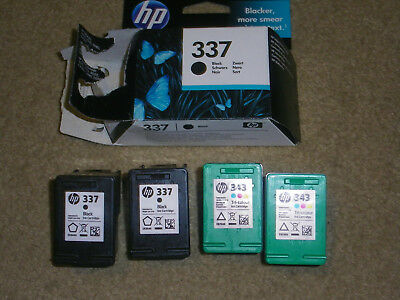 Empty HP Origional 337 & 343 Ink Cartridges - Used Once - Never Refilled.
