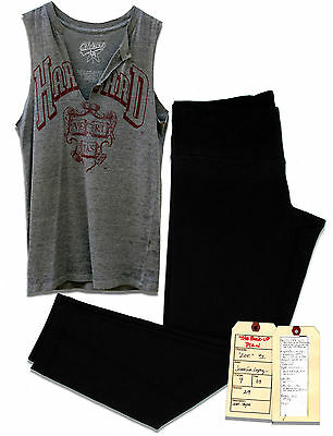 Jennifer Lopez Screen Worn Harvard T-Shirt & Leggings
