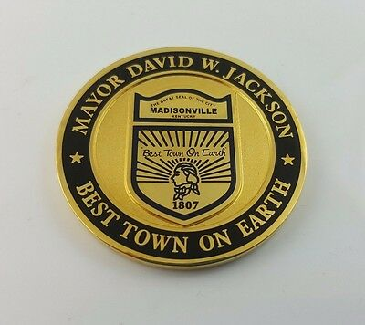 Mayor David W. Jackson Madisonville, KY Challenge Coin (New)