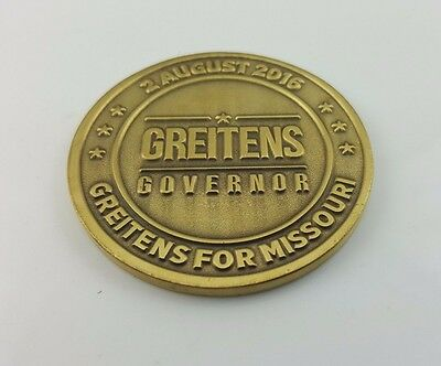 "Eric Greitens for Missouri Governor Challenge Coin 2"" diameter (New)"