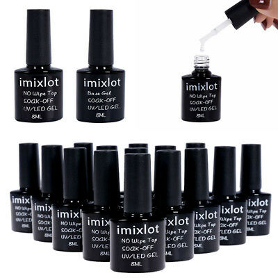 ♥imixlot♥ Semipermanente Top Base Gel UV LED Ricostruzione Unghie Gel Top Coat