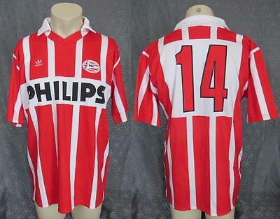 Match worn / issue PSV Eindhoven 1990-94 home shirt camiseta maillot #14