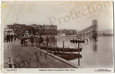 """""""Marine Lake and Pleasure Park, Rhyl"""" used Lillywhite pc wooden rollercoaster"""