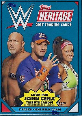 2017 Topps WWE Heritage Wrestling New Trading Cards Retail 64ct. Blaster Box