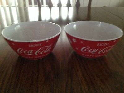 "Coca Cola ""happy Holidays"" Plastic Snack Bowls - New With Tag"