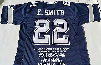 Emmitt Smith Dallas Cowboy Signed Limited Edition Commemorative Jersey
