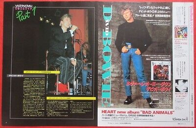 David Bowie 1987 Clipping Japan Magazine Cutting A7 G10Lt 2Page
