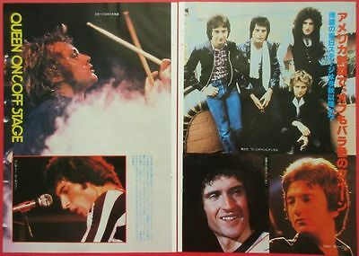 David Bowie Queen Freddie Mercury Roger Taylor 1978 Clipping Japan G2 G10 4Page