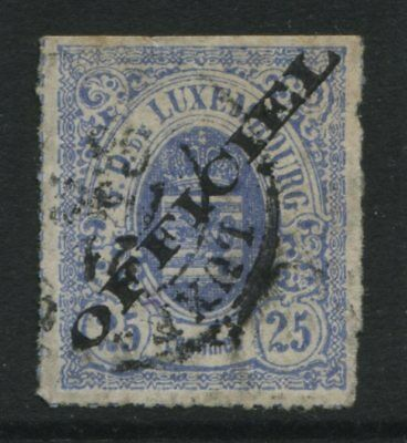 Luxembourg 1875 25c ultra overprinted OFFICIAL CDS used