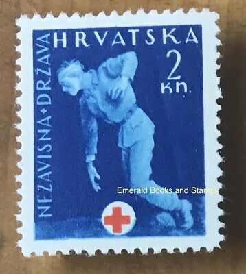 EBS Croatia Hrvatska NDH 1943 Red Cross obligatory tax stamp Michel Z2 MNH**