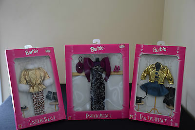Barbie Fashion Avenue Outfits (1995) - Lot of 3 - NEW - NRFB