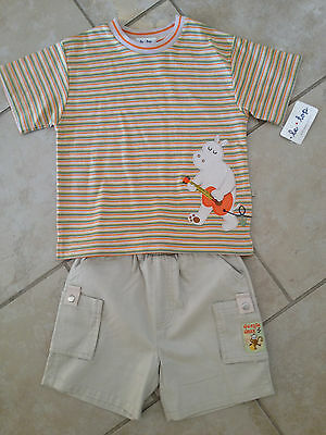 Le Top hippo monkey jungle outfit (s/s shirt and cargo shorts), NWT, size US 4T
