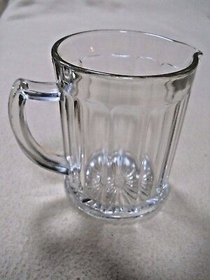 Vintage Hazel Atlas Small Clear Ribbed Glass Syrup Creamer Pitcher