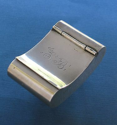 American Coin Silver Curved Pocket Snuff Box 19th