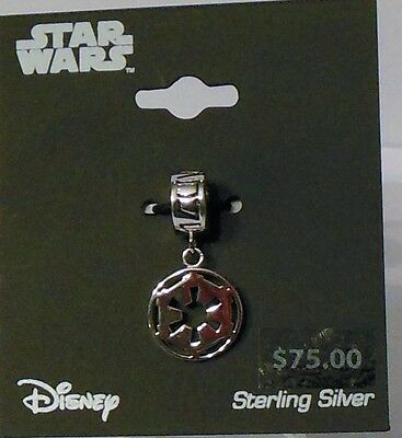 Disney Star Wars Sterling Silver Imperial Symbol Charm NEW