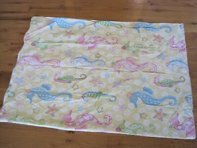 Baby Pottery Barn Kids Duvet Cover Yellow Sea Horse 46""