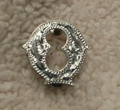 """Montana Silversmiths Concho Letter Q Initial 3/4"""" Tall Engraved Real Silver"""