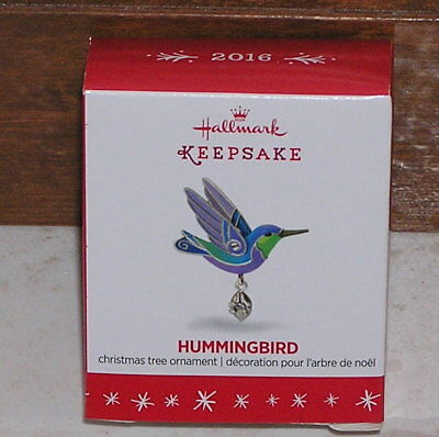 Hallmark 2016 Miniature Hummingbird Ornamnet New