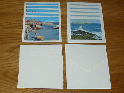 10 Vintage Greeting Cards, Lighthouse & Magnificent Peggy's Cove, Nova Scotia