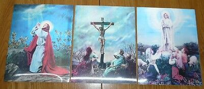 3 Vintage Christianity (Jesus) Holograms - 13''¼ X 10'' 38 inches