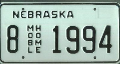 "NEBRASKA ***MINT*** ""1994"" license plate"