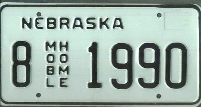"NEBRASKA ***MINT*** ""1990"" license plate"