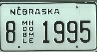 "NEBRASKA ***MINT*** ""1995"" license plate"