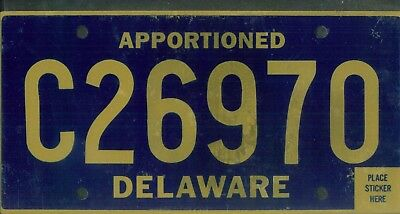 "DELAWARE license plate ""C26970"" ***APPORTIONED***UNUSED***"