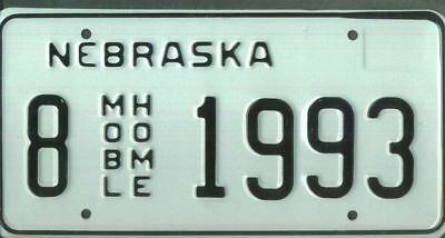 "NEBRASKA ***MINT*** ""1993"" license plate"