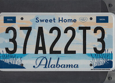 "ALABAMA passenger license plate ""37A22T3"" ***HENRY***MINT***"