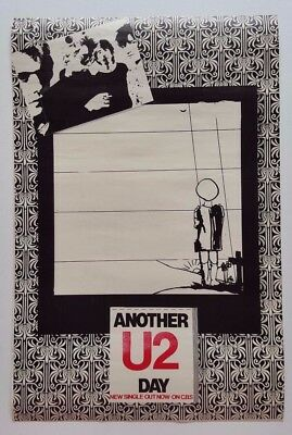 U2 'Another Day' CBS Original Irish Promo Poster 1980 Ireland Post PunK Rare!!