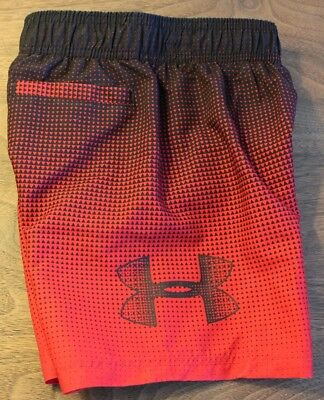 Under Armour Swim Trunks 2 2T Board Shorts Boy's FREE NWT Red $27