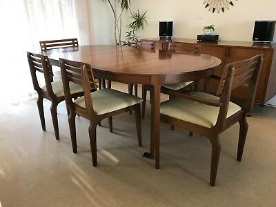 MCM Mid Century Modern Drexel Counterpoint  Dining Table with 6 Chairs