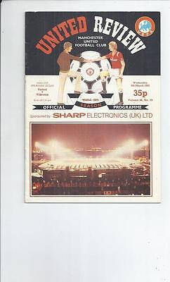 Manchester United v Videoton UEFA Cup Football Programme 1984/85