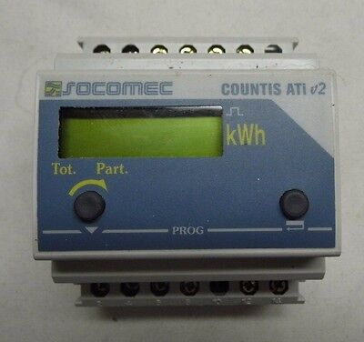 Socomec Countis ATI V2 LCD Digital Power Meter, 7-Digits, 2, 3 Phase RS 305-683
