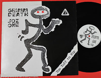 "GRIMM DEATH & JOZ ONE Too Tuff To Rip 12"" UK 1988 Vinyl Solution VS8"