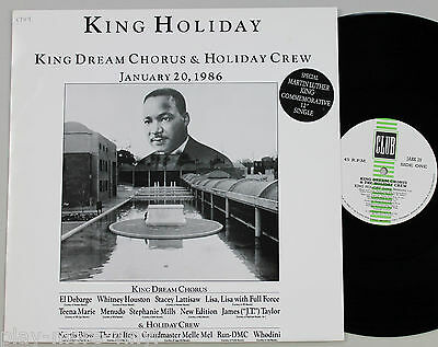 "KING DREAM CHORUS King Holiday 12"" Run DMC/Whitney Houston/Kurtis Blow PLAYS NM!"