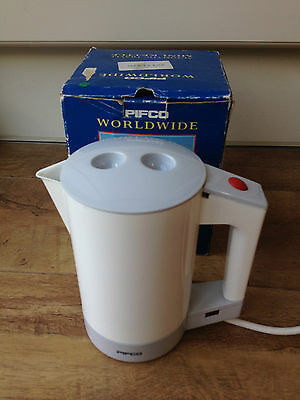 Pifco Worldwide Automatic Travel Kettle White 0.75L Water Heater Tea Coffee