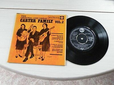 The Original And Great Carter Family Vol 2 Ep Uk Rca 1962 Bluegrass Pict Sleeve