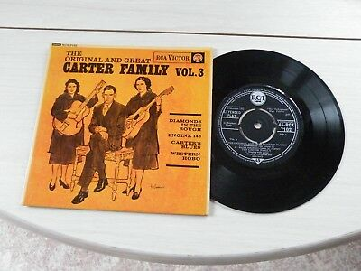 The Original And Great Carter Family Vol 3 Ep Uk Rca 1962 Bluegrass Pict Sleeve