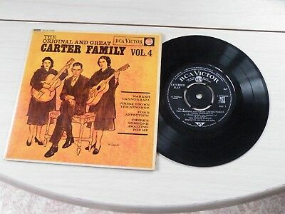 The Original And Great Carter Family Vol 4 Ep Uk Rca 1963 Bluegrass Pict Sleeve