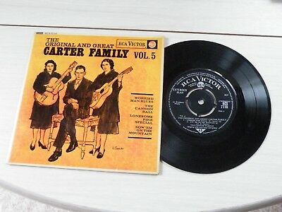 The Original And Great Carter Family Vol 5 Ep Uk Rca 1963 Bluegrass Pict Sleeve