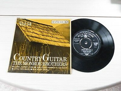 The Monroe Brothers Country Guitar Vol 14 Ep Uk Rca '63 Bluegrass Picture Sleeve