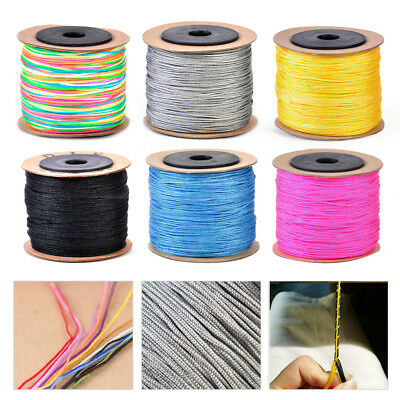 100M 0.8mm Nylon Braided Chinese Knotting Shamballa Macrame Cord String Thread