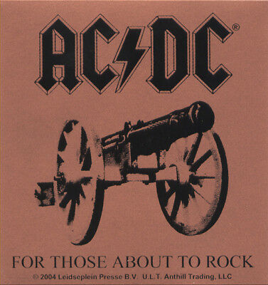 AC/DC - For Those About To Rock (bronze) - Aufkleber Sticker - Neu #201