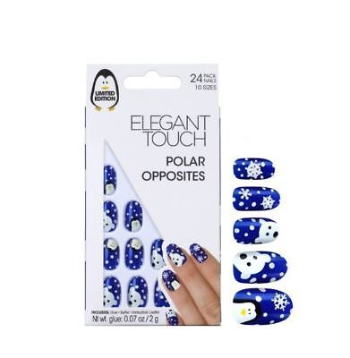 Elegant Touch False Nails - Polar Opposites Penguin & Polar Bear (24 Nails)