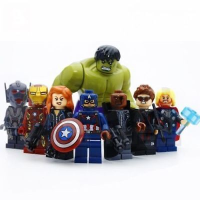 8 X Super Heroes Avengers Marvel Minifigures Limited Edition Lego Toy Blocks