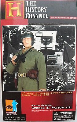 """1/6 scale 12"""" collectable action figure by Dragon DML of General George S Patton"""