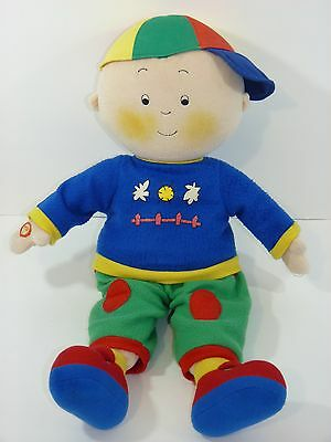 Caillou Talking English/French Large 18'' Plush Stuffed Doll Toy (2001)